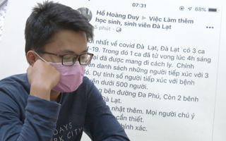Video: Khởi tố nam thanh niên đăng 'Đà Lạt có ca chết vì dịch COVID-19'