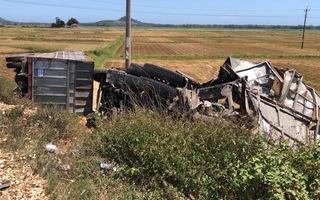 Video: Tài xế mất lái đâm xe tải lật xuống ruộng