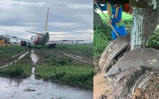 Video: Mưa cực lớn, máy bay Vietjet hạ cánh lệch đường băng Tân Sơn Nhất
