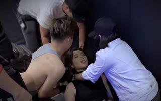 Video: Thúy Ngân gặp sự cố khi đóng vai sát thủ