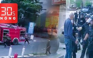 Bản tin 30s Nóng: Nổ lớn tại cây xăng; Vây bắt phạm nhân 2 lần vượt ngục; Cảnh sát đẩy té ngã một cụ ông