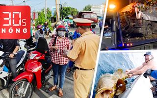 Bản tin 30s Nóng: Mú biển 300kg cắn câu; Hai điểm nóng COVID miền Tây; Tung tích ba mẹ con gốc Việt mất tích
