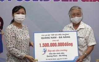 1,5 tỉ đồng ủng hộ tân sinh viên từ CLB Tiếp sức đến trường Quảng Nam – Đà Nẵng