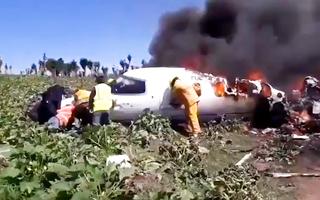 Video: Rơi máy bay tại Mexico, ít nhất 6 người thiệt mạng