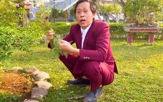 Video: Nghệ sĩ Hoài Linh gây bất ngờ khi diện vest đi nhổ cỏ