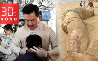 Bản tin 30s Nóng: Cá voi khủng dạt vào bờ; Bệnh nhân của ông Võ Hoàng Yên 'bệnh vẫn hoàn bệnh'