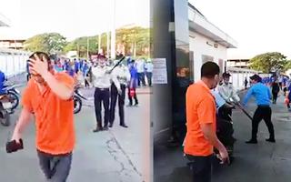 Video: Xác minh vụ nam công nhân bị bảo vệ đánh chảy máu đầu ở Bình Dương