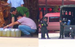 Video: Công an 'phong tỏa' trạm xăng dầu qui mô trên quốc lộ 14 tại Bình Phước