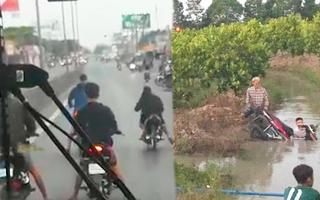 Video: Đua xe bị cảnh sát dí bắt, nhiều 'quái xế' lao thẳng xuống kênh
