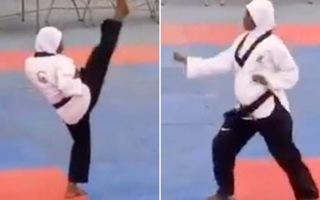 Video: Nữ võ sĩ mang bầu 8 tháng 'đi đường quyền' đẹp mắt, đoạt HCV taekwondo