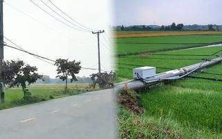 Video: Trắng đêm trồng lại hàng loạt trụ điện ở Củ Chi bị ngã sau mưa dông