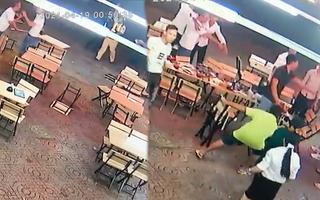 Video: CSGT nổ súng, khống chế nhóm thanh niên đánh nhau ở quán nhậu