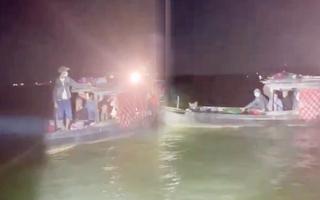 Video: Hộ gia đình từ Campuchia di chuyển bằng vỏ lãi, định nhập cảnh trái phép vào Việt Nam