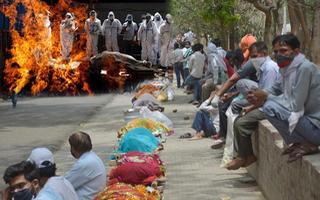 Video: Thi thể nạn nhân COVID-19 đang xếp dài chờ hỏa táng ở Ấn Độ
