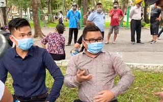 Video: 'Hóng gió', quay phim ở công viên nhưng không đeo khẩu trang, 6 người bị phạt 12 triệu