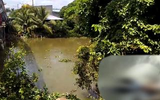 Video: Phát hiện người đàn ông tử vong, khuôn mặt biến dạng trên kênh ở Tiền Giang
