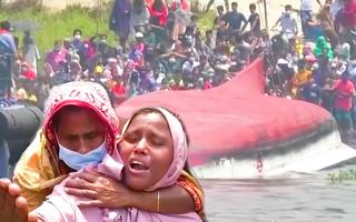 Video: Lật phà hai tầng ở Bangladesh, ít nhất 26 người chết