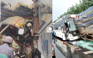 Video: Xe giường nằm và xe tải húc nhau, một tài xế tử vong, nhiều hành khách hoảng loạn