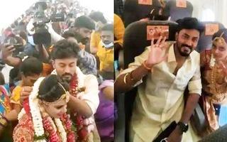 Video: Cặp đôi thuê máy bay chở 160 người tổ chức đám cưới trên không