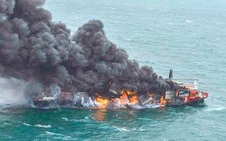 Video: Tàu chở gần 1.500 container hóa chất cháy ngùn ngụt 6 ngày liền trên biển Sri Lanka