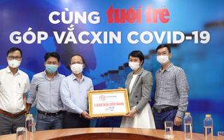 Video: Công ty Phát Đạt trao 1 tỉ đồng 'Cùng Tuổi trẻ góp vắc xin COVID-19'