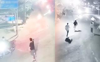 Video: Nhóm thanh niên mang mã tấu, dao, rựa hỗn chiến với nhóm có súng