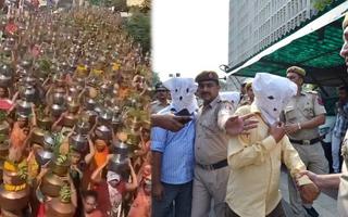 Video: Ấn Độ bắt giữ 23 người vì tổ chức lễ để hàng nghìn người dâng nước thiêng 'ngăn Covid-19'