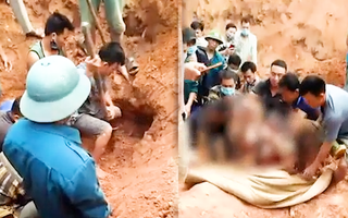 Video: Đất từ trên cao bất ngờ sạt xuống, 1 phụ nữ tử vong