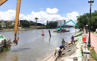 Video: Nhiều đoạn kè tại bán đảo Thanh Đa bị sạt lở nặng