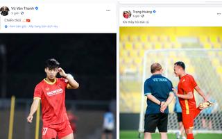 Các tuyển thủ Việt Nam đăng lên mạng xã hội trước giờ G: 'Sẵn sàng chiến'