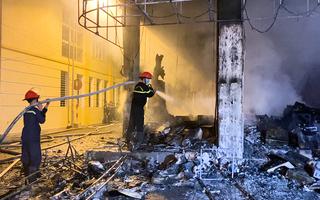 Video: Cháy dữ dội phòng trà ở Vinh trong đêm, 6 người chết