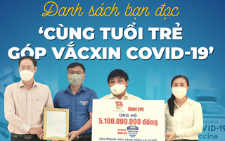 Sáng 17-6: Hơn 11,6 tỉ đồng 'Cùng Tuổi Trẻ góp vắc xin COVID-19'