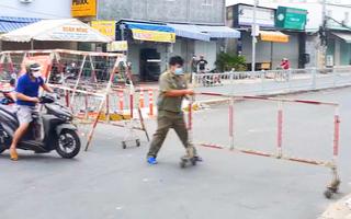 Video: Khu phố 2, phường 16, quận 8 giãn cách theo chỉ thị 16, từ 12h ngày 21-6