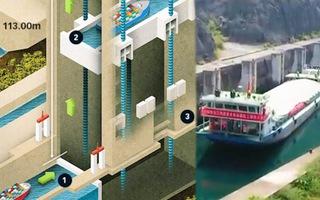 Video: 'Thang máy' trạm thủy điện nâng tàu 500 tấn lên độ cao gần 200m