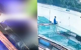 Video: Chạm vào bè cá trong lúc đi chài trên sông Cái Cối, người đàn ông bị điện giật chết thương tâm