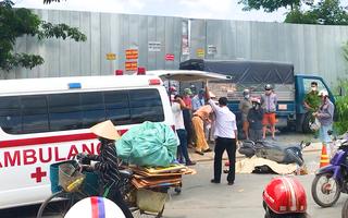 Video: Trên đường đi thăm người thân, một phụ nữ bị xe ben cán tử vong