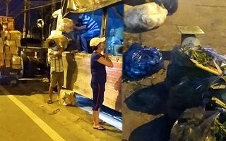 Video: Chợ đầu mối ở TP.HCM đóng cửa, nông sản miền Tây được mua bán ngay trên đường