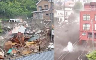 Video: Lở đất kinh hoàng cuốn theo hàng chục ngôi nhà, khoảng 20 người mất tích ở Nhật Bản