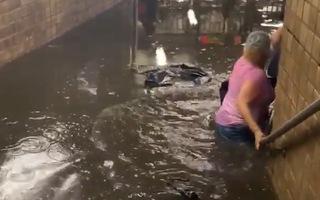 Video: Bão Elsa đổ bộ gây ngập ga tàu điện ngầm và nhiều nơi ở New York