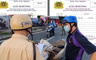 Video: Từ 0h ngày 25-8, TP.HCM đổi giấy đi đường mới