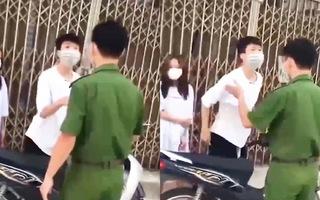 Video: Chở bạn gái ra đường lúc giãn cách còn to tiếng 'ông là cái gì, tưởng công an là tôi sợ à?'