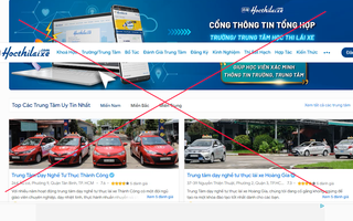 Video: Coi chừng sập bẫy website giả mạo trường dạy lái xe 'bao đậu' ở TP.HCM