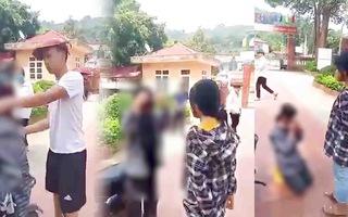 Video: Nữ sinh lớp 7 bị nam thanh niên đánh đập, bắt quỳ gối xin lỗi ở sân trường