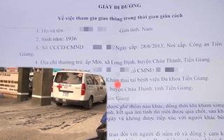 Video: Ngỡ ngàng với giấy đi đường cấp cho cụ ông 85 tuổi đi... khám thai ở Tiền Giang
