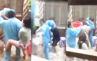 Video: Công an vào cuộc vụ nhóm người xô xát với nhân viên y tế lấy mẫu tại quận 8