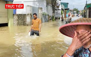 Trực tiếp: Tình hình mưa lũ tại Nghệ An sáng 27-9