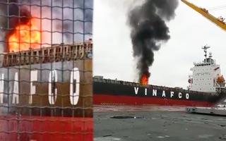 Video: Cháy container trong hầm tàu Morning Vinafco ở cảng Bến Nghé, TP.HCM
