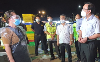 Video: Bí thư TP.HCM thị sát chợ đầu mối Bình Điền