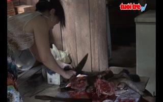 Quán xẻ thịt thú rừng ngay cạnh hạt kiểm lâm