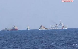 4 tàu Trung Quốc vây ép, cản phá 1 tàu Kiểm ngư Việt Nam